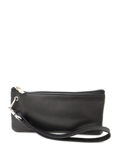 Ashlin Georgio Napa Leather Wristlet-BLACK-One Size