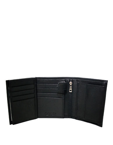 Ashlin Double Billfold Tuscany Leather Wallet-BLACK-One Size