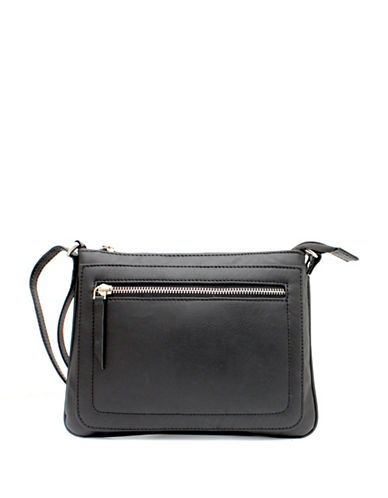 Ashlin Tuscany Leather Crossbody Bag-BLACK-One Size