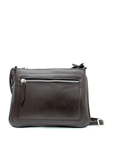 Ashlin Tuscany Leather Crossbody Bag-BROWN-One Size