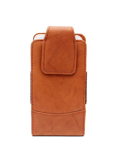 Ashlin Leather Magnetic Flap Phone Case-BEIGE-One Size