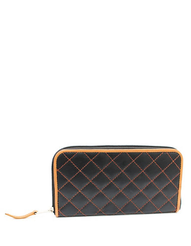 Ashlin Quilted Tuscany Leather Clutch Wallet-GREY-One Size