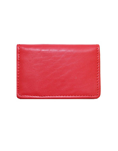 Ashlin RFID Blocking Business Card Holder-RED-One Size