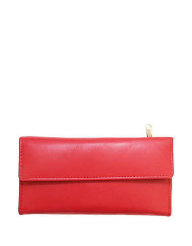 Ashlin RFID Leather Wallet-RED-One Size
