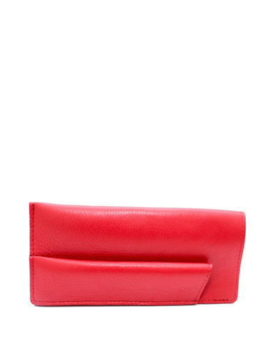 Ashlin Sun and Eyeglass Leather Case-RED-One Size