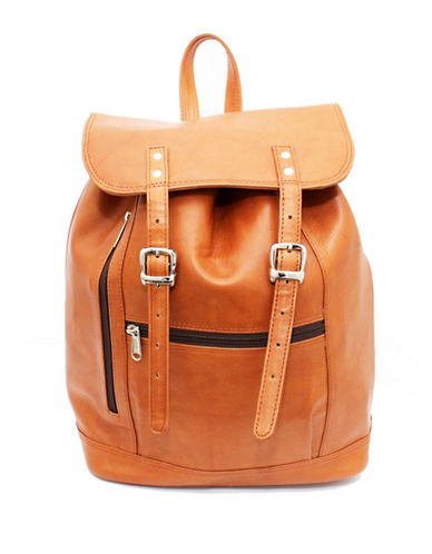 Ashlin Jessy Tuscany Leather Backpack-BROWN-One Size