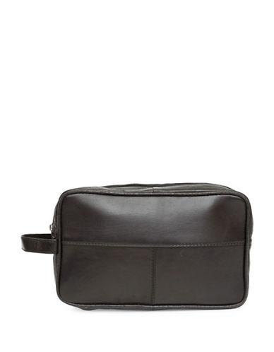 Ashlin Trinity Toiletry Lambskin Nappa Bag-BLACK-One Size