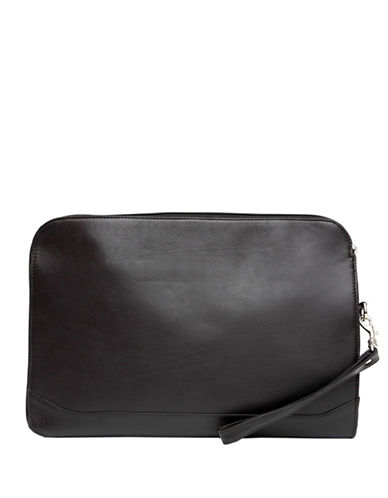 Ashlin Leather Underarm Portfolio-BLACK-One Size