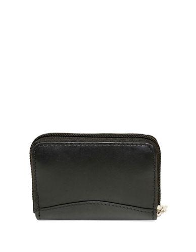 Ashlin Akelina Tuscany Leather Accordion Card Case-BLACK-One Size