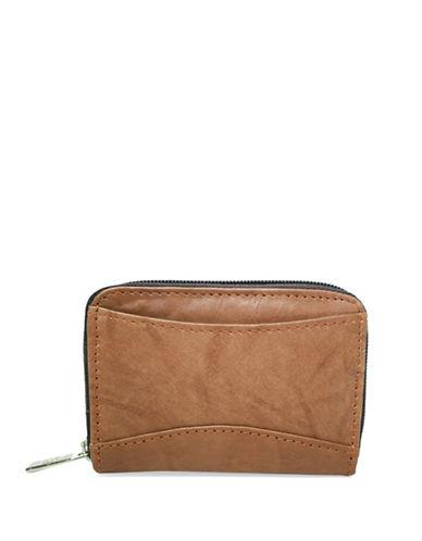 Ashlin Akelina Tuscany Leather Accordion Card Case-BROWN-One Size