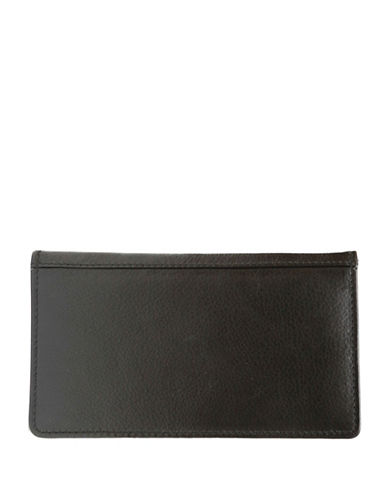 Ashlin Aldrich Tuscany Leather Chequebook Cover-BLACK-One Size