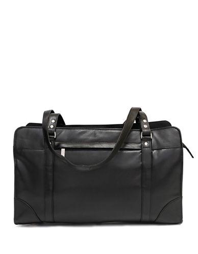 Ashlin Carlton Tuscany Leather Briefcase-BLACK-One Size