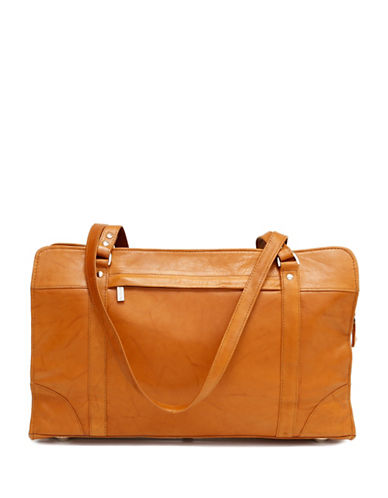 Ashlin Carlton Tuscany Leather Briefcase-BROWN-One Size