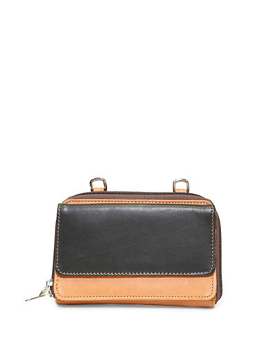 Ashlin Isabella Two-Tone Leather Wallet-BLACK-One Size