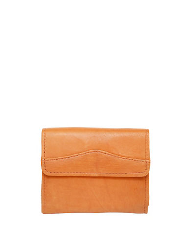 Ashlin Clarisa Leather Tri-Fold Wallet-BROWN-One Size