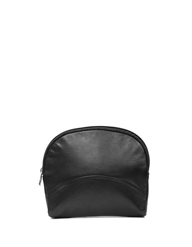 Ashlin Leannah Large Cosmetic and Jewellery Leather Bag-BLACK-One Size