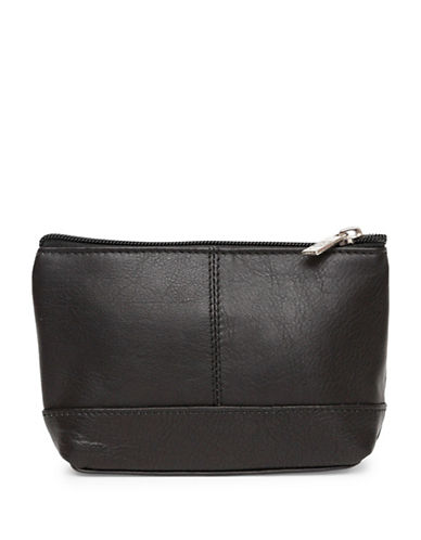 Ashlin Aubrey Compact Utility-Cosmetic Leather Bag-BLACK-One Size