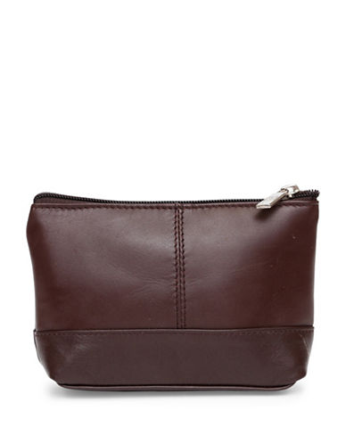 Ashlin Aubrey Compact Utility-Cosmetic Leather Bag-CHOCOLATE-One Size