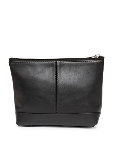 Ashlin Ryleigh Large Utility Cosmetic Leather Bag-BLACK-One Size