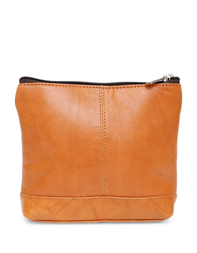 Ashlin Ryleigh Large Utility Cosmetic Leather Bag-BROWN-One Size