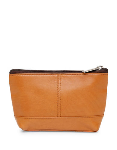 Ashlin Aubrey Compact Utility-Cosmetic Leather Bag-BROWN-One Size