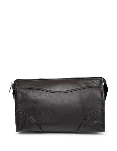 Ashlin Leather Toiletry and Dopp Kit-BLACK-One Size