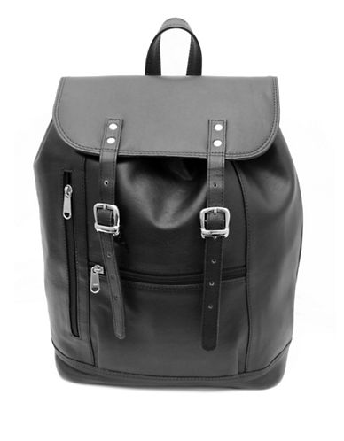 Ashlin Jessy Tuscany Leather Backpack-BLACK-One Size