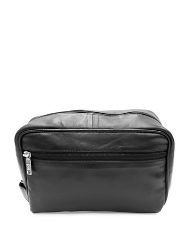 Ashlin Top Zippered Shave Bag-BLACK-One Size