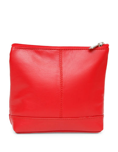 Ashlin Ryleigh Large Utility Cosmetic Leather Bag-RED-One Size