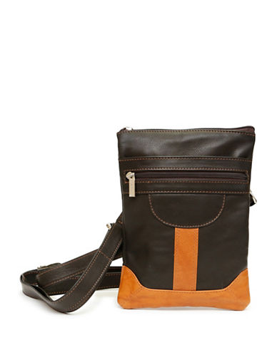 Ashlin Dorothy Leather Slim Crossbody Bag-BLACK/BROWN-One Size