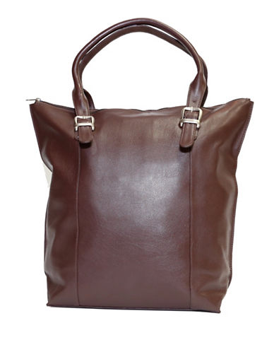 Ashlin Candelora Tuscany Leather Tote-CHOCOLATE-One Size
