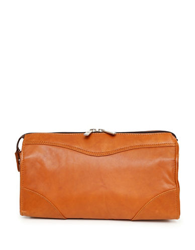 Ashlin Leather Toiletry and Dopp Kit-BEIGE-One Size