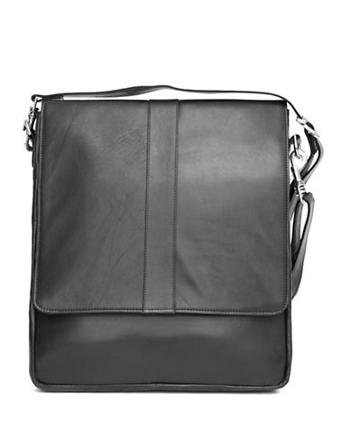 Ashlin Howeth Tuscany Leather Messenger Bag-BLACK-One Size