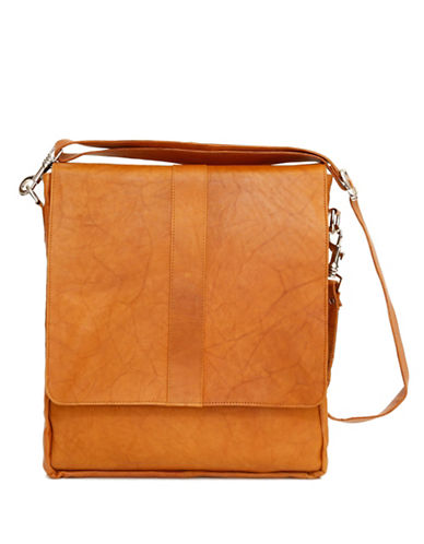 Ashlin Howeth Tuscany Leather Messenger Bag-BROWN-One Size