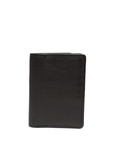 Ashlin Abriella Tuscany Leather Bi-Fold Credit Card Case-BLACK-One Size