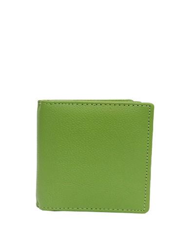 Ashlin Abriella Tuscany Leather Bi-Fold Credit Card Case-GREEN-One Size