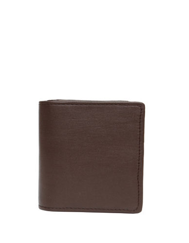 Ashlin Abriella Tuscany Leather Bi-Fold Credit Card Case-BROWN-One Size