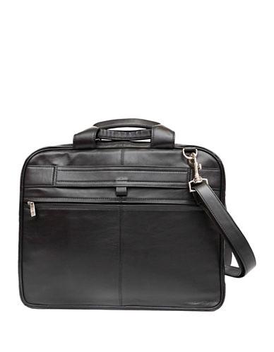 Ashlin Leather Laptop Briefcase-BLACK-One Size