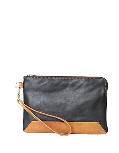Ashlin Kayleigh Tuscany Leather Wristlet-BLACK-One Size