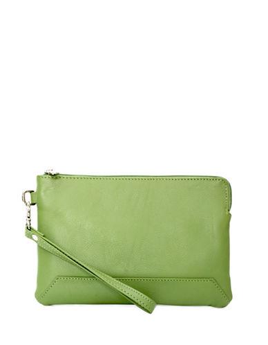 Ashlin Kayleigh Tuscany Leather Wristlet-GREEN-One Size