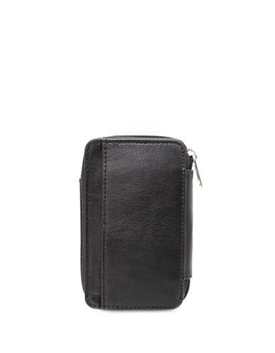 Ashlin Alexa Leather Phone Accordion Wallet-BLACK-One Size