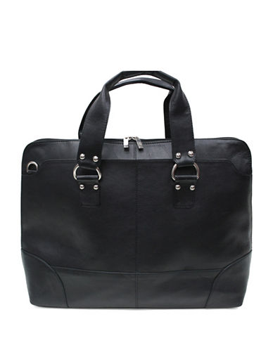 Ashlin Kellin Tuscany Leather Briefcase-BLACK-One Size