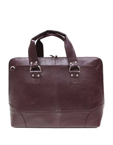 Ashlin Tuscany Leather Tote-BROWN-One Size