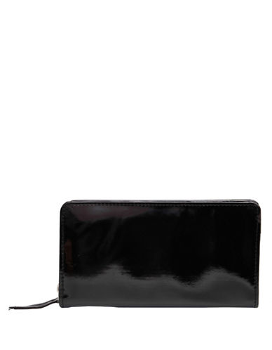 Ashlin Oliveria Zip-Around Leatherette Wallet-BLACK-One Size