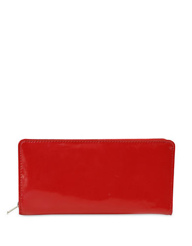 Ashlin Oliveria Zip-Around Leatherette Wallet-RED-One Size