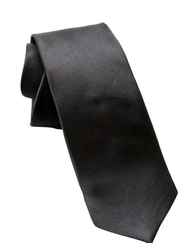 Ashlin Textured Necktie-BLACK-One Size
