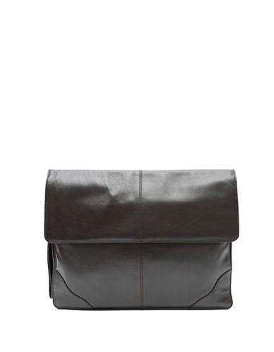 Ashlin Underarm Leather Briefcase-BLACK-One Size