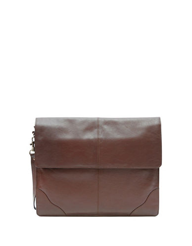 Ashlin Underarm Leather Briefcase-BROWN-One Size