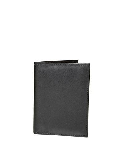 Ashlin Amsterdam RFID Blocking Leatherette Passport Wallet-BLACK-One Size