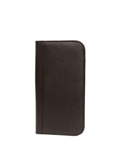 Ashlin Travel and Passport Bi-Fold Leather Wallet-BLACK-One Size